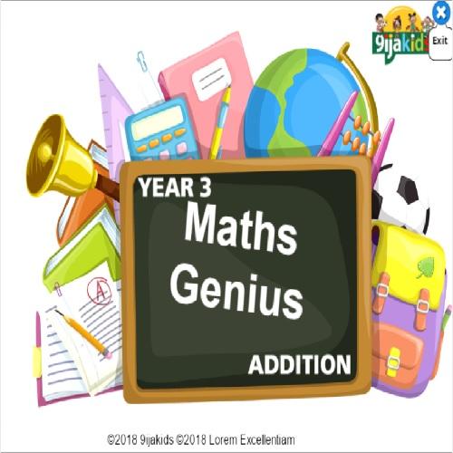 Maths Genius – Year 3 (addition and roman numerals)