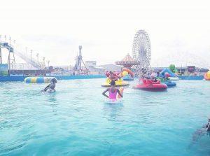 swimming pool at hi-impact planet amusement park