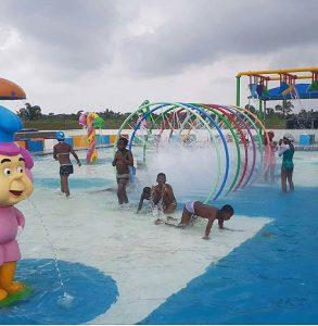 children playing at omu resort