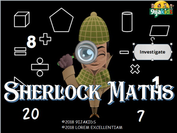 Sherlock Maths (addition and subtraction)