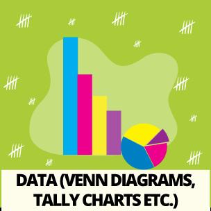 Data (Venn Diagrams, Tally Charts etc)